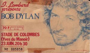 bob dylan concert stade de colombes france